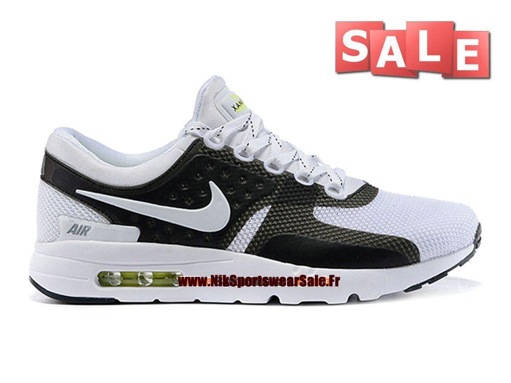 premium selection ee611 906c5 Nike Air Max Zero - Chaussure Mixte Nike Sportswear Pas Cher (Taille Homme)  Noir Blanc 789695-006iD