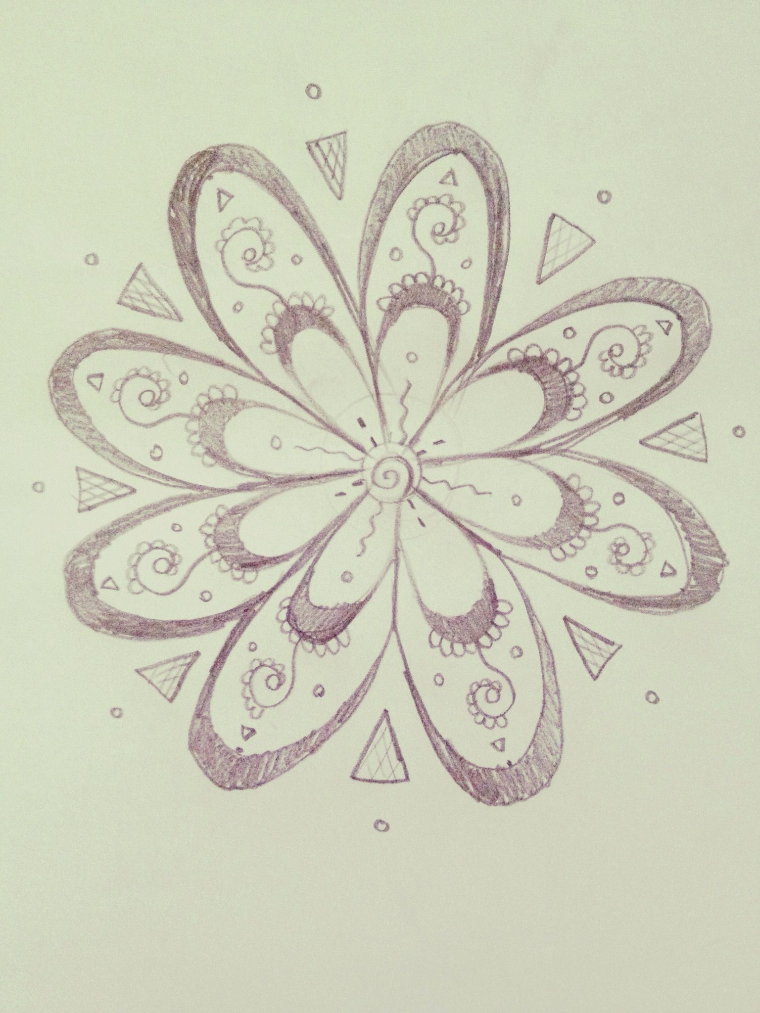 How To Draw An Intricate Abstract Flower Recipe Arts And Crafts