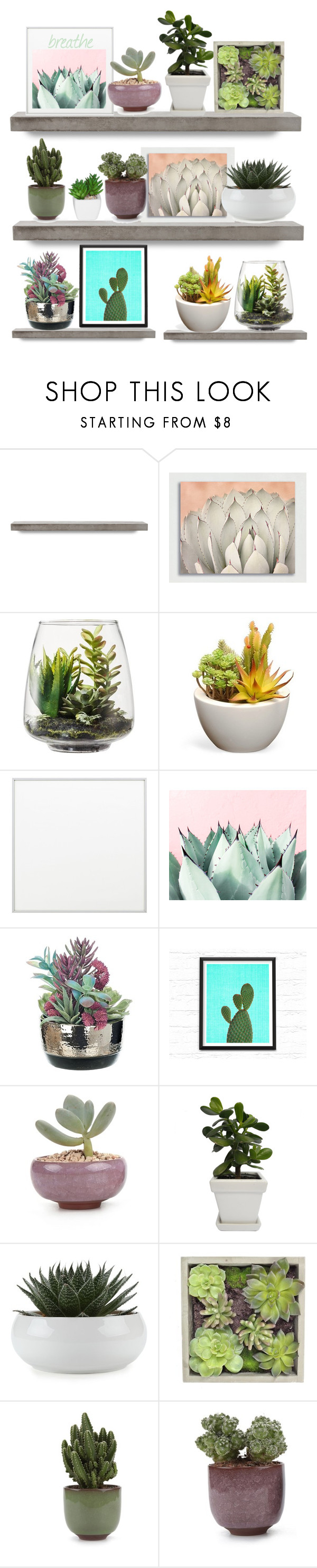 """""""🌵 succccculents"""" by ohkayjessica ❤ liked on Polyvore featuring interior, interiors, interior design, home, home decor, interior decorating, Threshold, By Lassen, Gold Eagle and plants"""