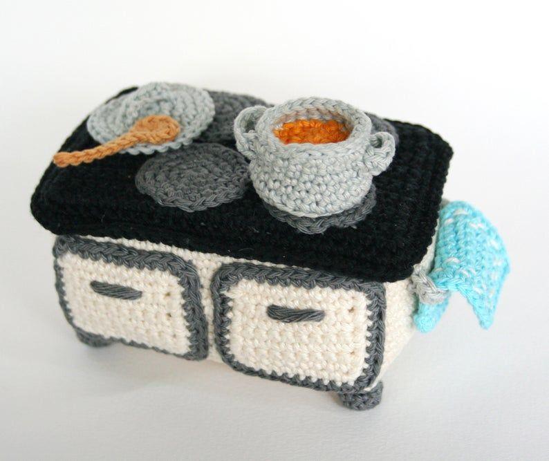 Furniture Kitchen Pdf Crochet Pattern In 2020 Mit Bildern Etsy Handgefertigt Wolle Kaufen