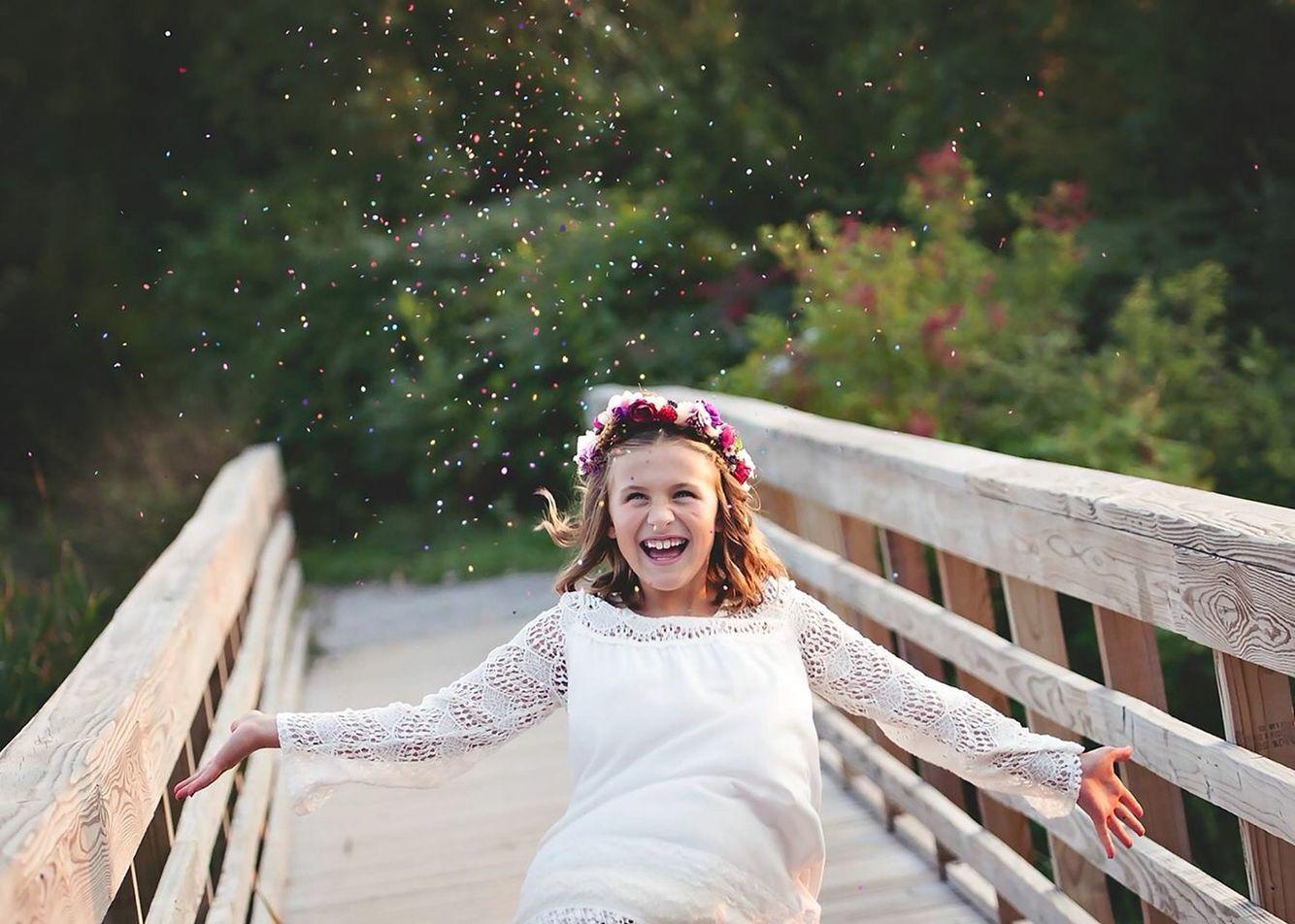 Little Girl Fun Mother Daughter Photo Shoot