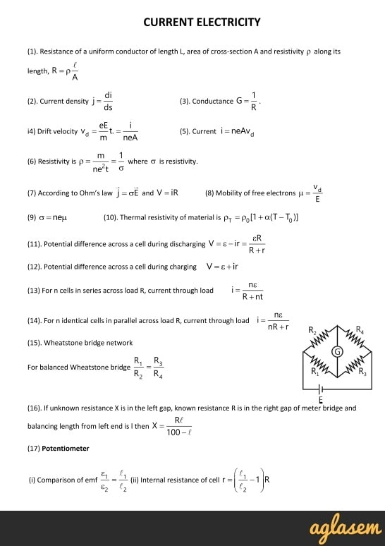 Important Notes Of Physics For Neet Jee Current Electricity Image In 2020 Physics Physics Laws Neet Notes
