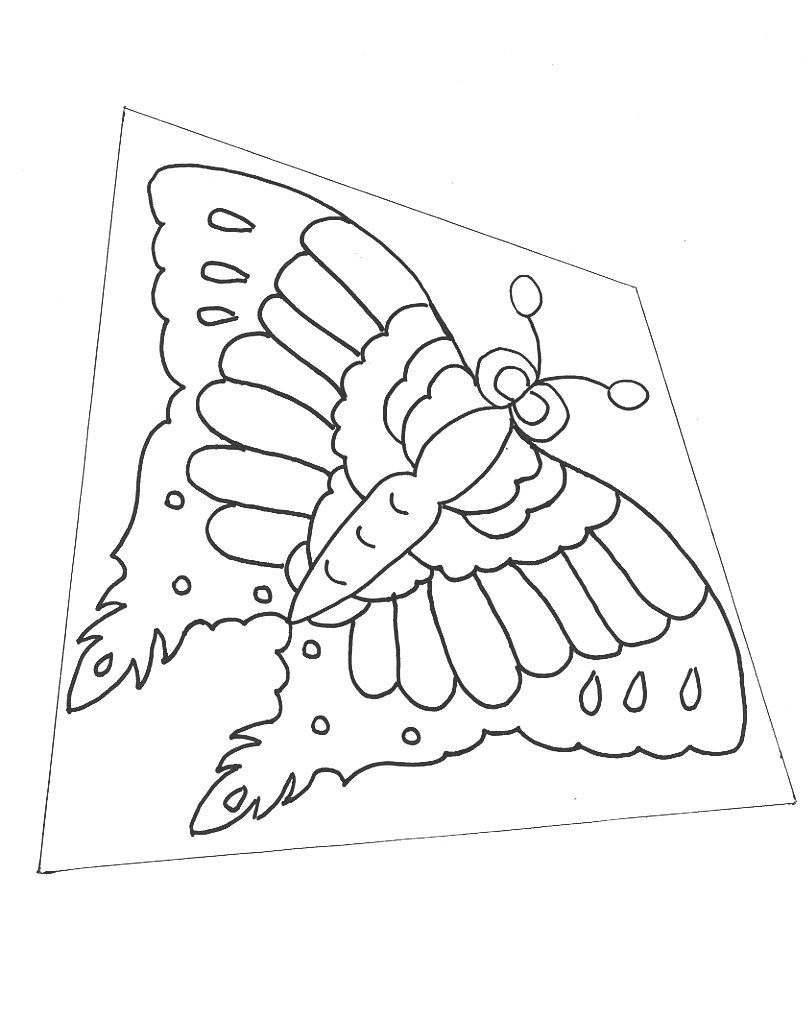 Kite Template Printable Butterfly Drawing Kite Template