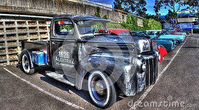 Vintage American Ford Alcatraz Prison Ford Pickup Truck At Car Show In Melbourne Australia Ford Pickup Trucks Ford Pickup Pickup Trucks