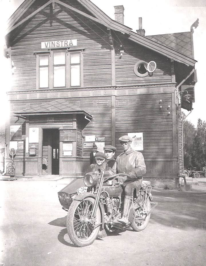 Old Motorcycle with a Side Car- Vintage Photo