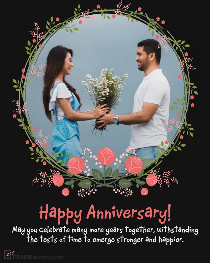 Online Wedding Anniversary Photo Frames Editing Wedding Anniversary Photos Happy Anniversary Photos Wedding Anniversary Wishes
