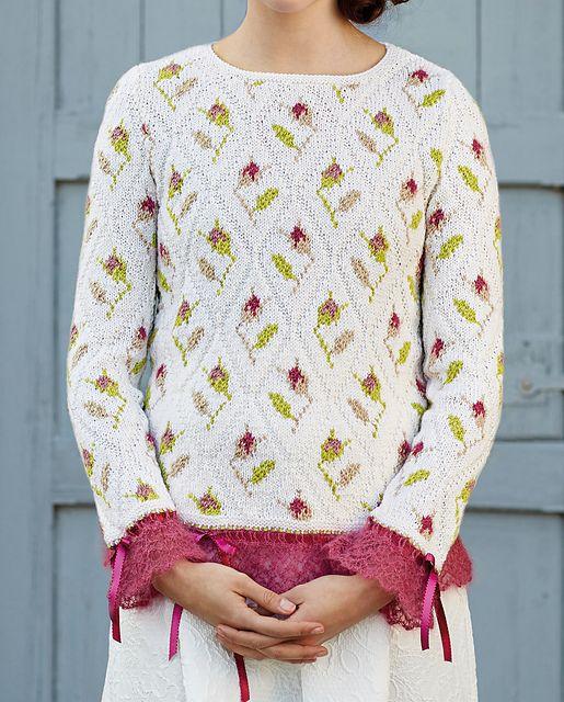Sweet Briar pattern by Sasha Kagan | пуловер | Pinterest | Puntos ...