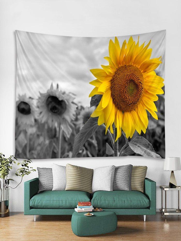 Sunflower Field Print Tapestry Wall Hanging Art Decor #sunflowerbedroomideas
