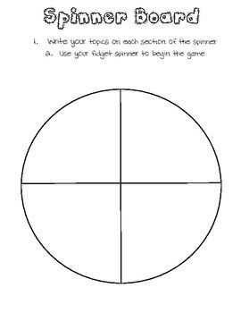 Free Spinner Board Template By Adventures With Anderson Teachers Pay