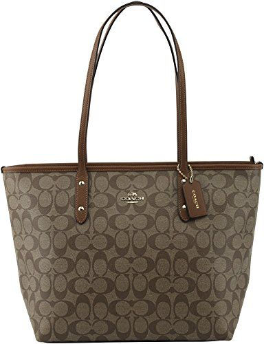 Coach Signature City Zip Tote Bag Handbag Coach Tote Bags Tote Bags