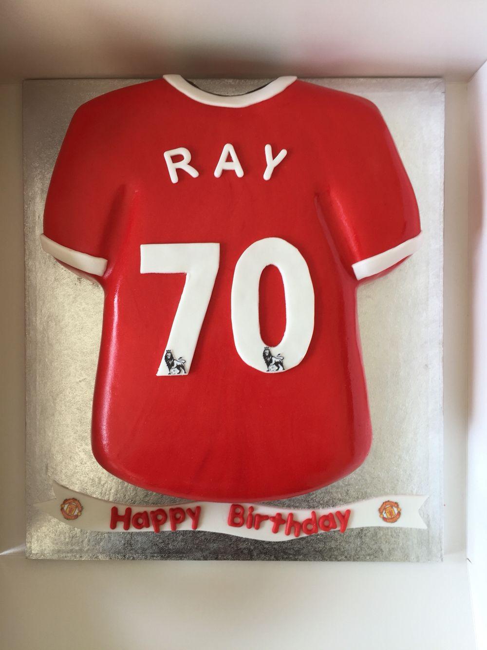 Manchester United 70th Cake Shirt Cake Manchester United T Shirts Manchester United Shirt