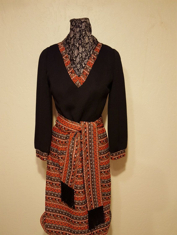 Handmade 70's Polyester Dress by UmbrellaVintage on Etsy