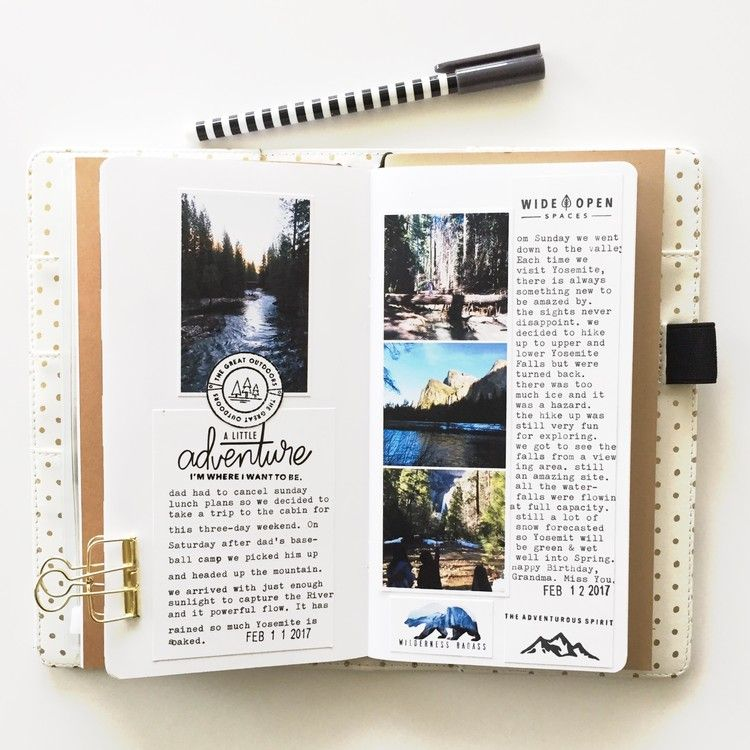 Travelers Notebook by mamaorrelli at @studio_calico #scrapbook