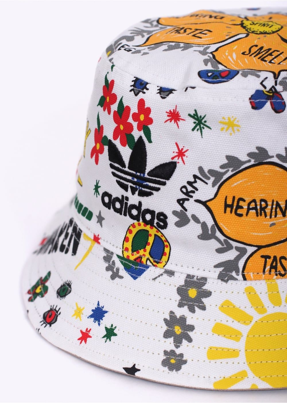 1cf8ea4ad42f8 Adidas Originals x Pharrell Williams Artist Reversible Bucket Hat - White -  £22 - Triads.co.uk