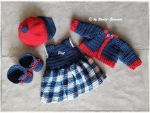 Photo of Crochet doll clothes // school outfit // PDF