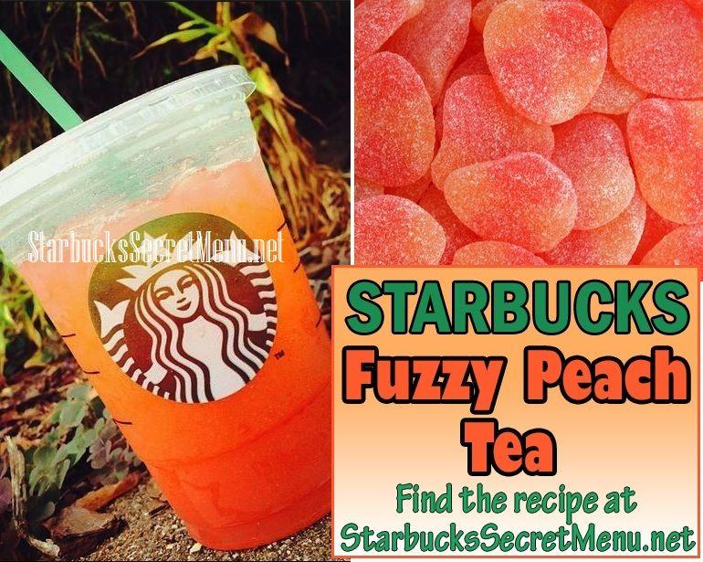 Starbucks Fuzzy Peach Tea! A sweet treat! #StarbucksSecretMenu Recipe here: http://starbuckssecretmenu.net/starbucks-secret-menu-fuzzy-peach-tea/