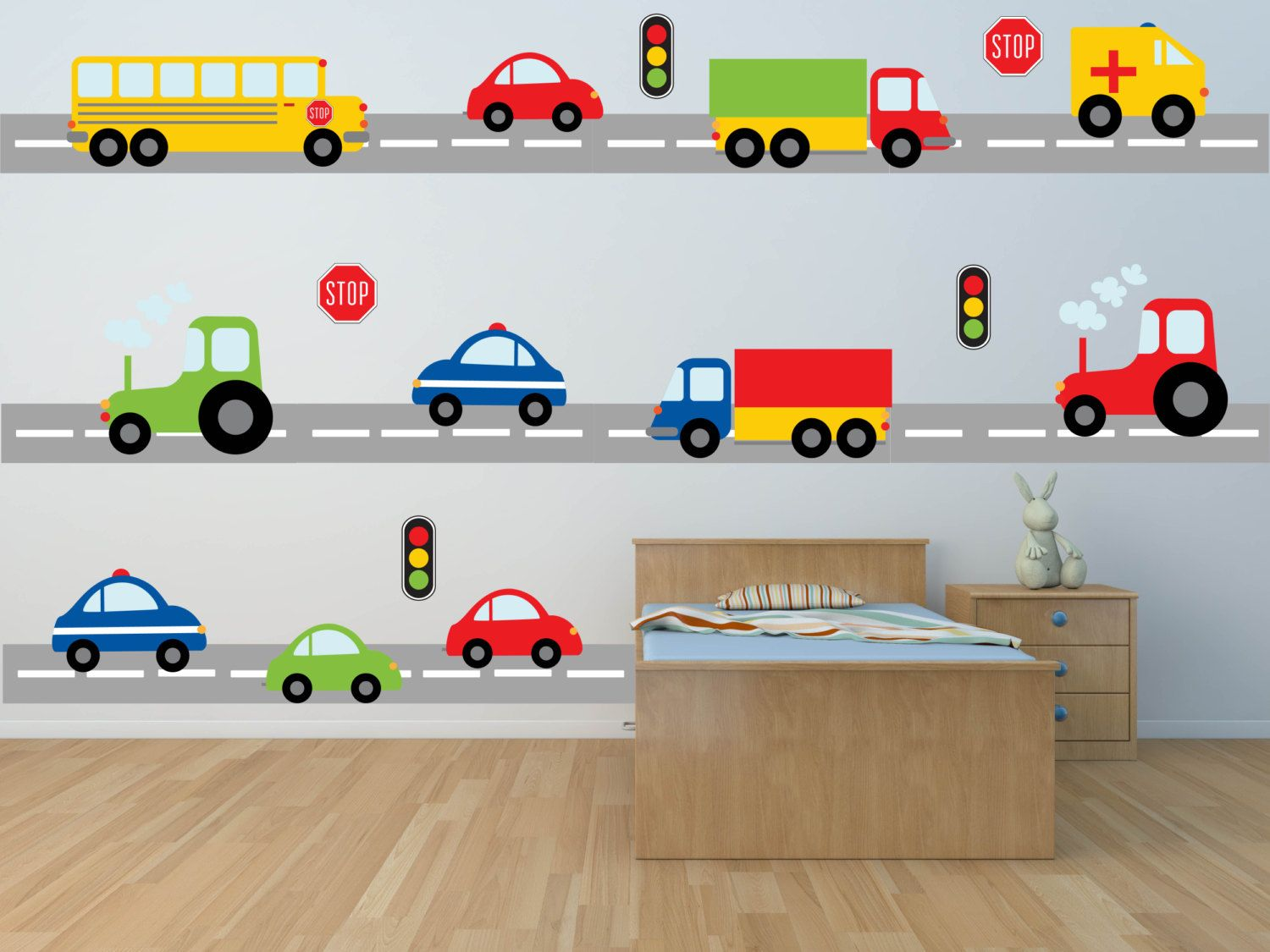 Charmant Truck Wall Decal   Construction Wall Decal   Car Wall Decal    Transportation Wall Decal   Boy Wall Decal   Nursery Wall Decal   Wall  Decals