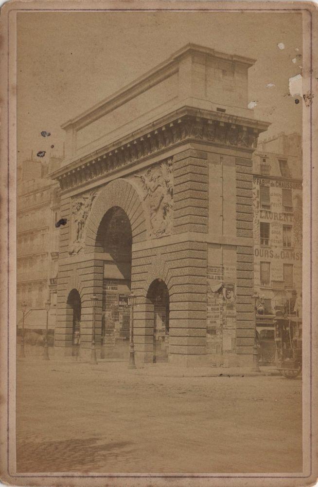 Cabinet photo Arch of Porte Saint Martin Arc Monument - Paris France ...