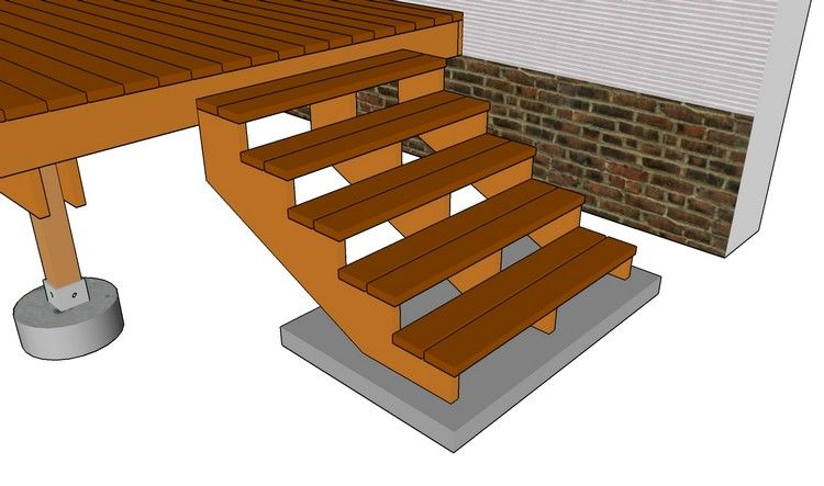 Plan der Außentreppe aus Holz Garten Pinterest - gartentreppe holz selber bauen anleitung