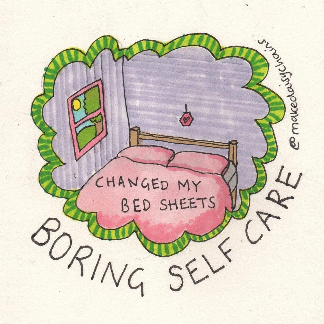 'Boring Self-Care' Drawings Celebrate Everyday Mental Health Victories | HuffPos...