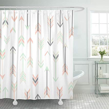Amazon Com Emvency Shower Curtain Waterproof Polyester Fabric 72