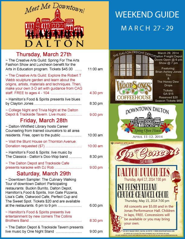 Weekend Guide March 27-29