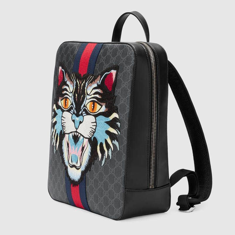 Gucci GG Supreme backpack with Angry Cat Detail 2  503c9104faf5f