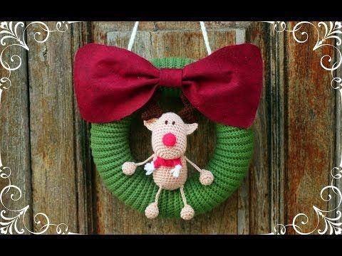 Tutorial Elfi Amigurumi : How to crochet a christmas wreth world of amigurumi youtube
