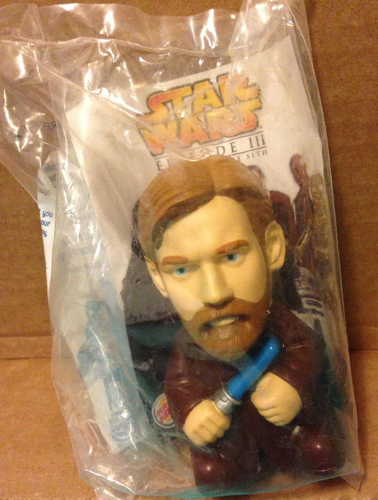 2005 Burger King Kid's Meal Star Wars Episode III ROTS Obi Wan Kenobi Toy