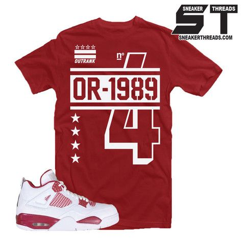 1e2a3fbab68e Shirts match Jordan 4 alternate sneaker shirts. New sneaker tees ...
