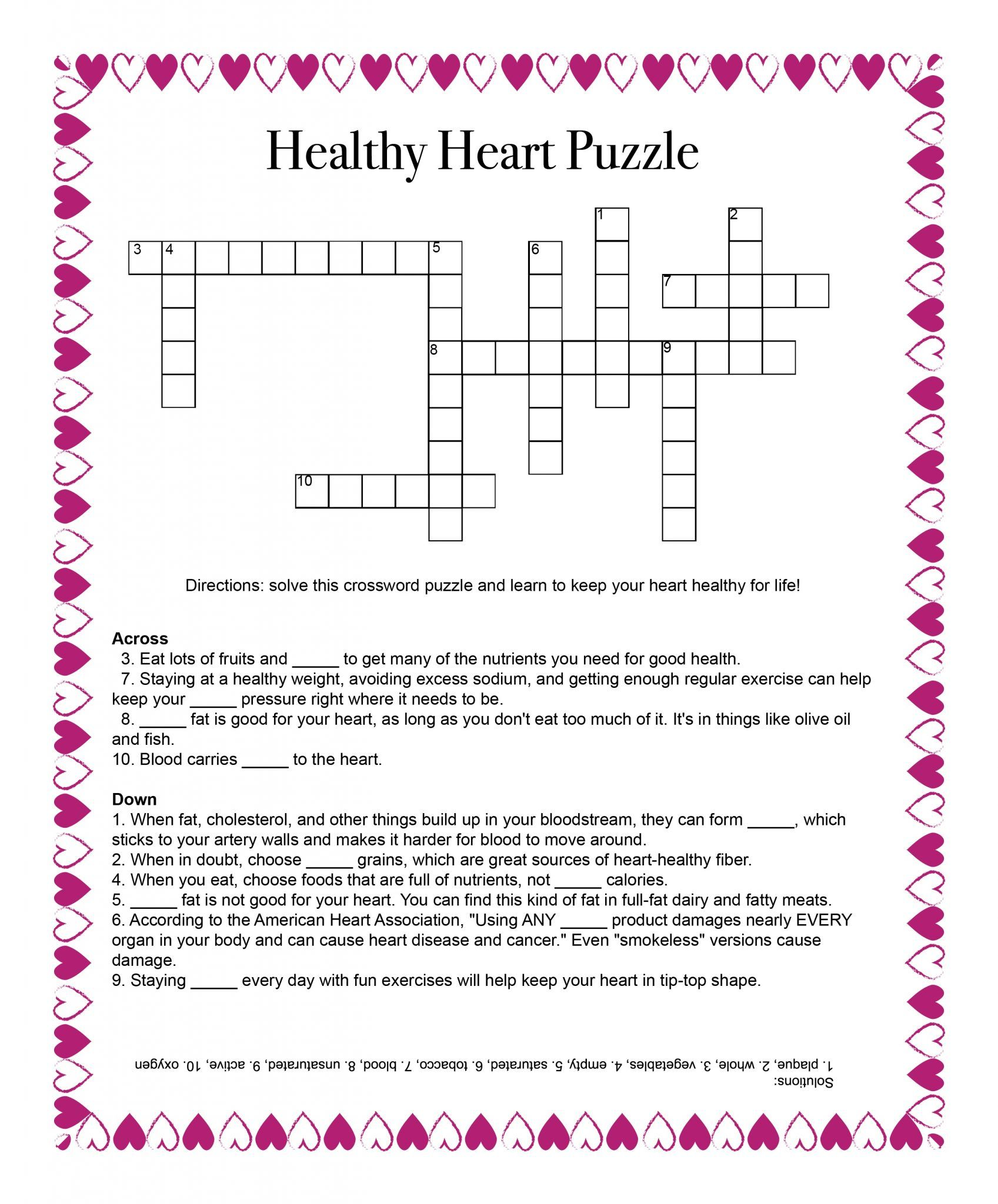 Healthy Heart Puzzle