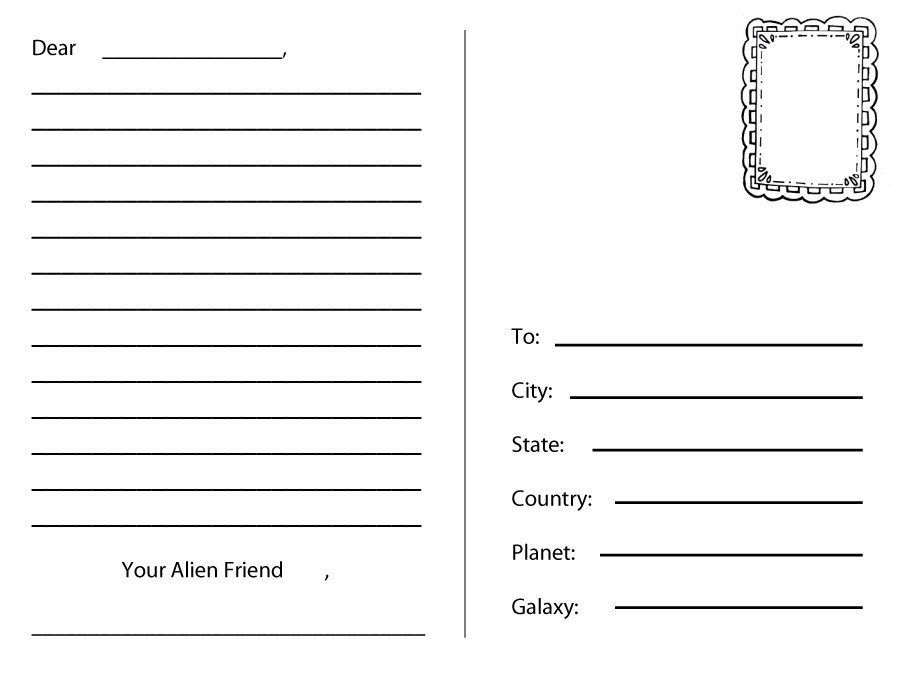 Pin By Amelia Bates On Free Printables Postcard Template Printable Postcards Business Card Template Word