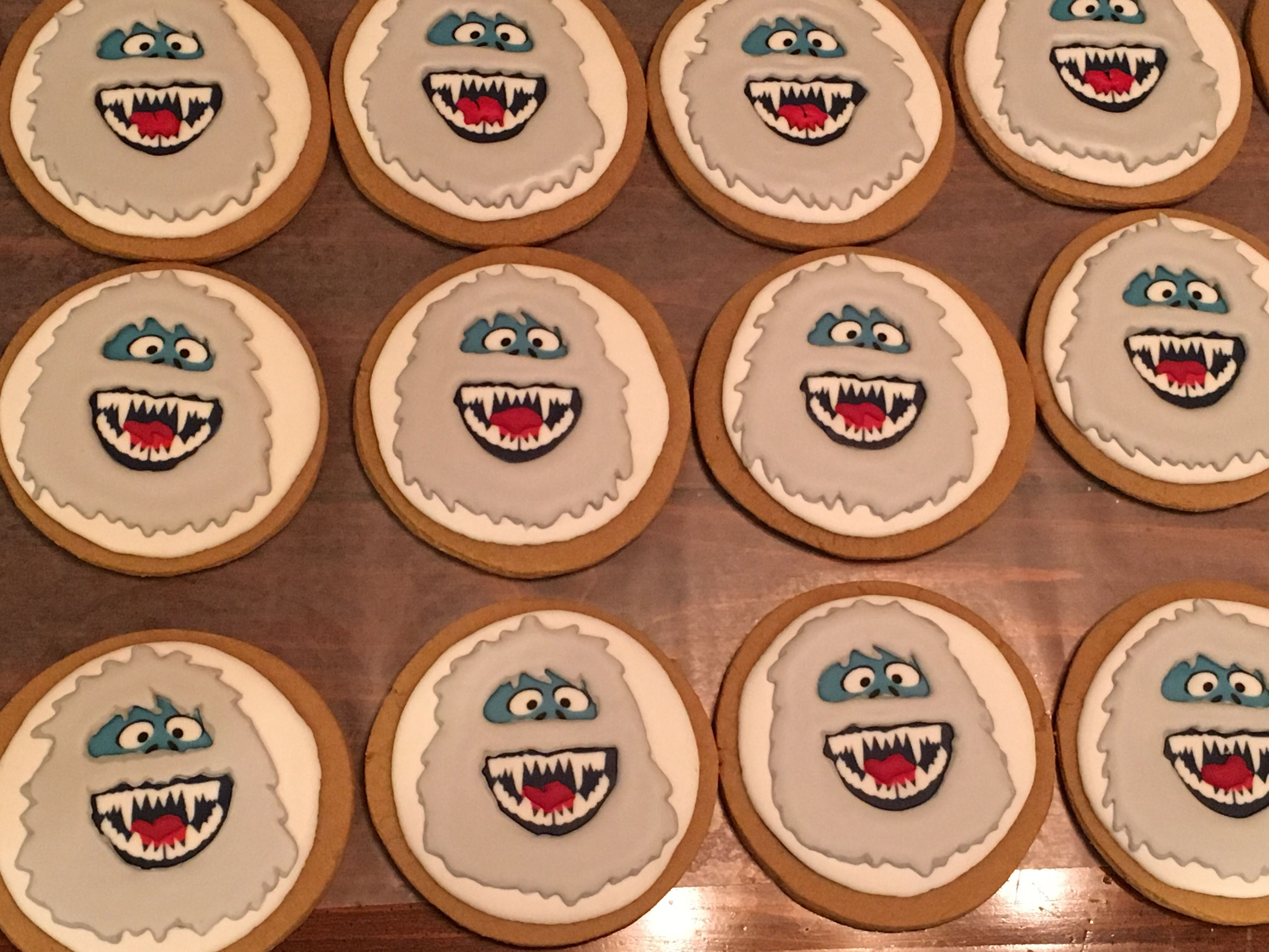 Bumble Abominable Snowman Cookies I Made For The Annual Cookie