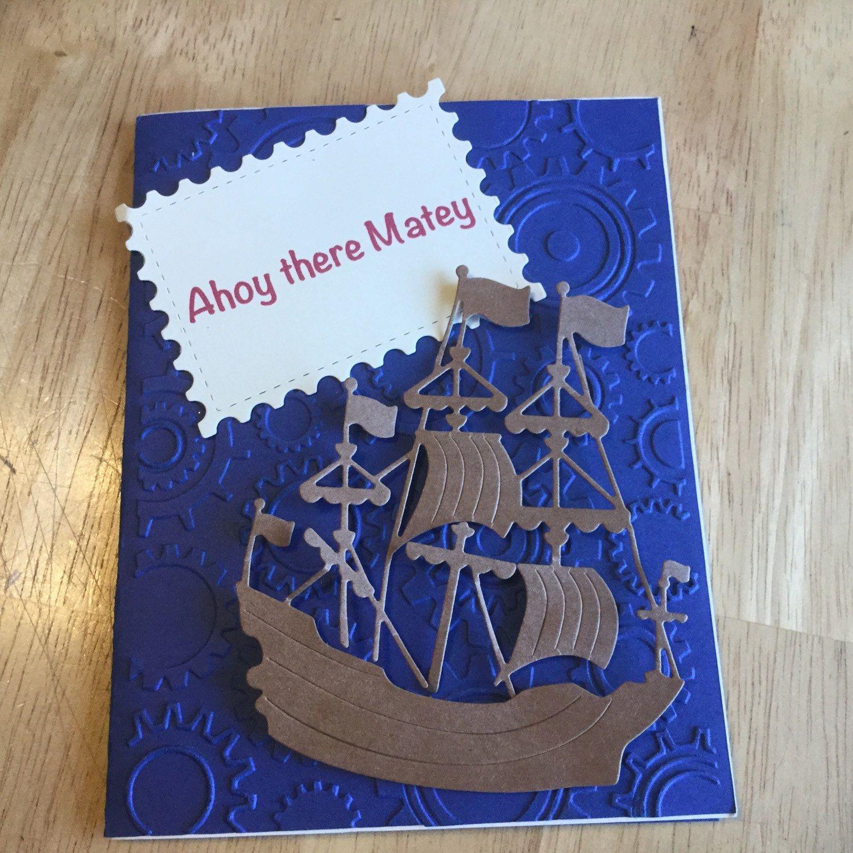 Happy Birthday Surfing Greeting Card Vw Bug Handmade With Sea
