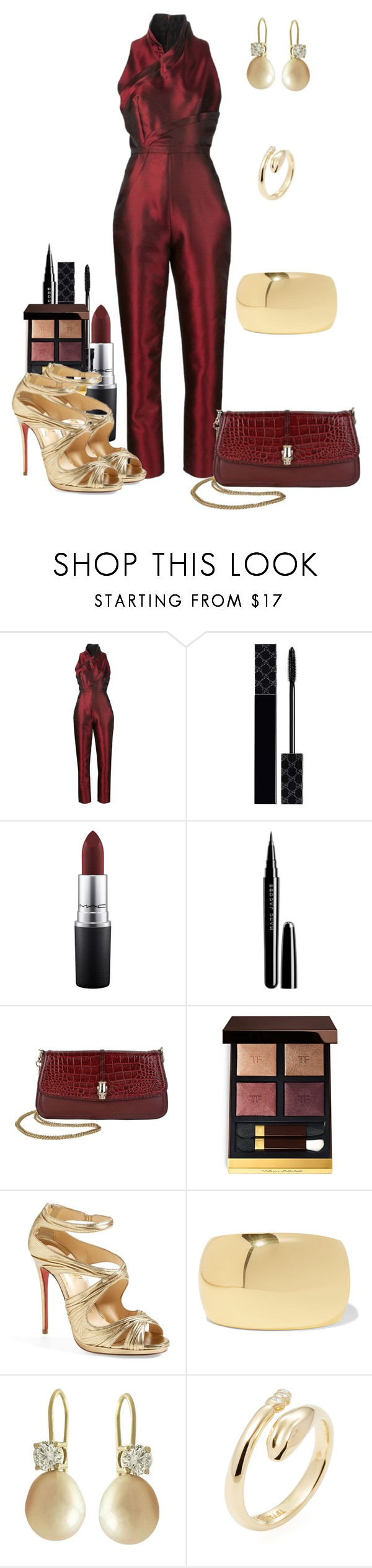 """""""Untitled #407"""" by fasttrack2fashion ❤ liked on Polyvore featuring Iris van Herpen, Gucci, MAC Cosmetics, Marc Jacobs, Roberto Cavalli, Tom Ford, Christian Louboutin, Kenneth Jay Lane and Tiffany & Co."""
