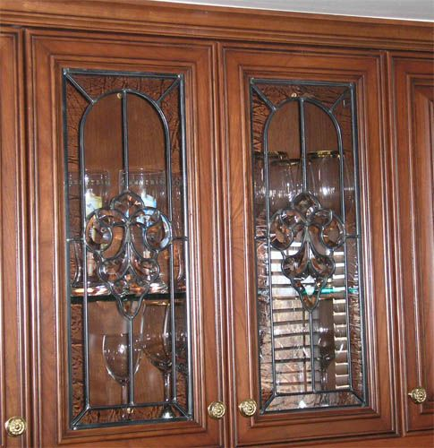 Glass Kitchen Cabinet Door Inserts: Clear Stained Glass Cabinet Doors In 2019
