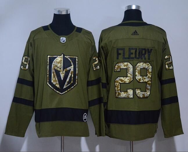 sports shoes 38bf8 d52f1 Men's Vegas Golden Knights #29 Marc Andre Fleury Green ...