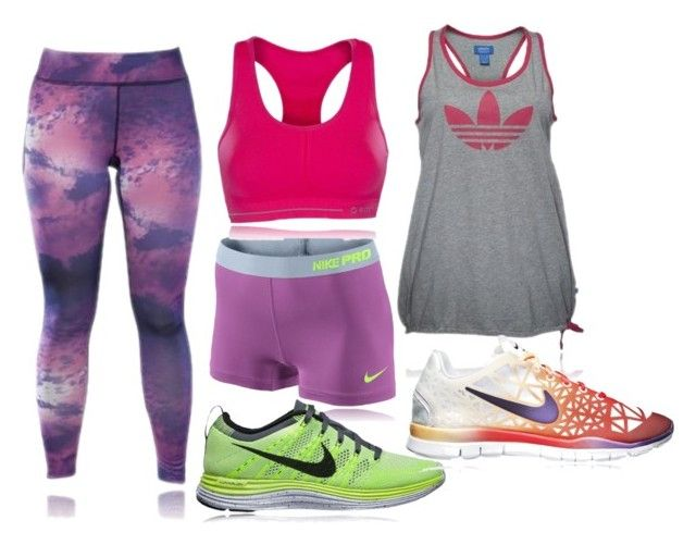 """""""Traiiiin"""" by qylle ❤ liked on Polyvore featuring NIKE and adidas"""