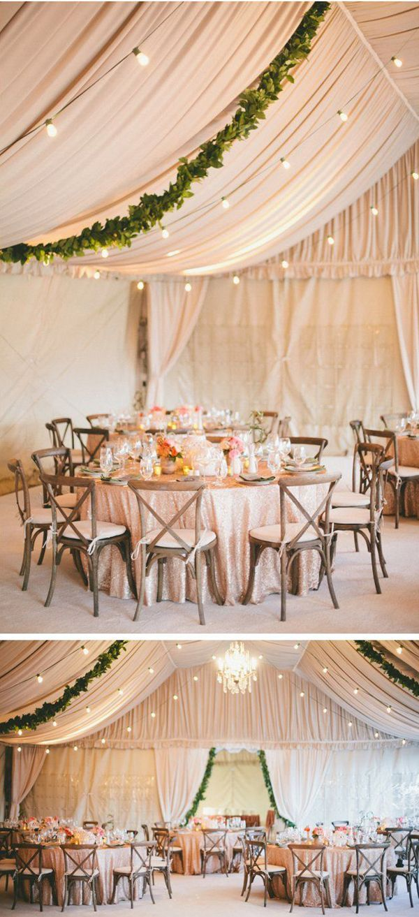 Wedding tent decoration images  Wedding decor trend for  Choose lush leaves over flowers