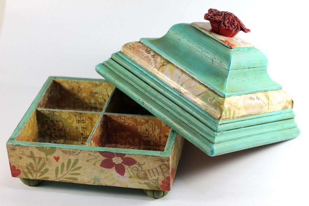 Como de unas sencillas cajas de madera, listones, molduras y mucha ...