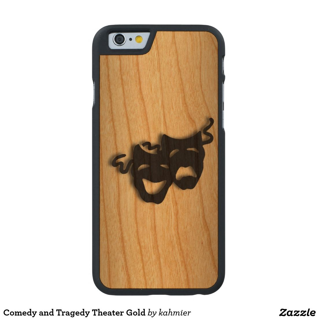 Comedy and Tragedy Theater Gold Carved® Cherry iPhone 6 Case