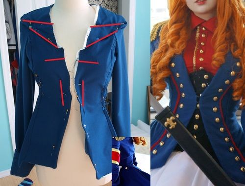 Angela's Cosplay & Crap, Well I really like the coats you make, do you have any tutorials regarding these? I have troubles when it comes to the shoulder area and creating a tailcoat. Actually, any tutorial on blazers/coats would be useful :D