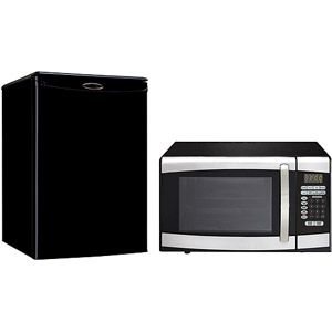 Danby 2.5 cu.ft. Energy Star Compact Refrigerator and 0.9 cu.ft. Stainless Steel Microwave Bundle #WalmartGreen