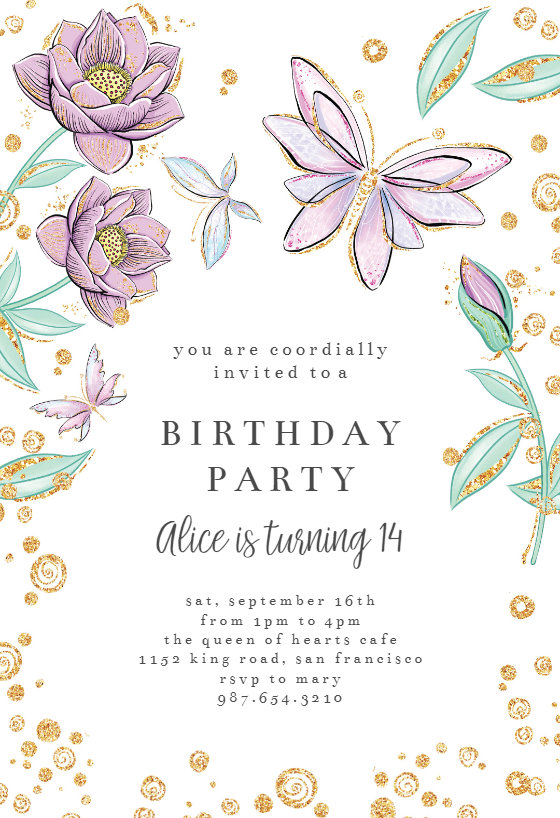 Butterflies In Blossom Birthday Invitation Template Free Greetings Island Baby Shower Invitation Templates Butterfly Baby Shower Invitations Birthday Invitation Templates