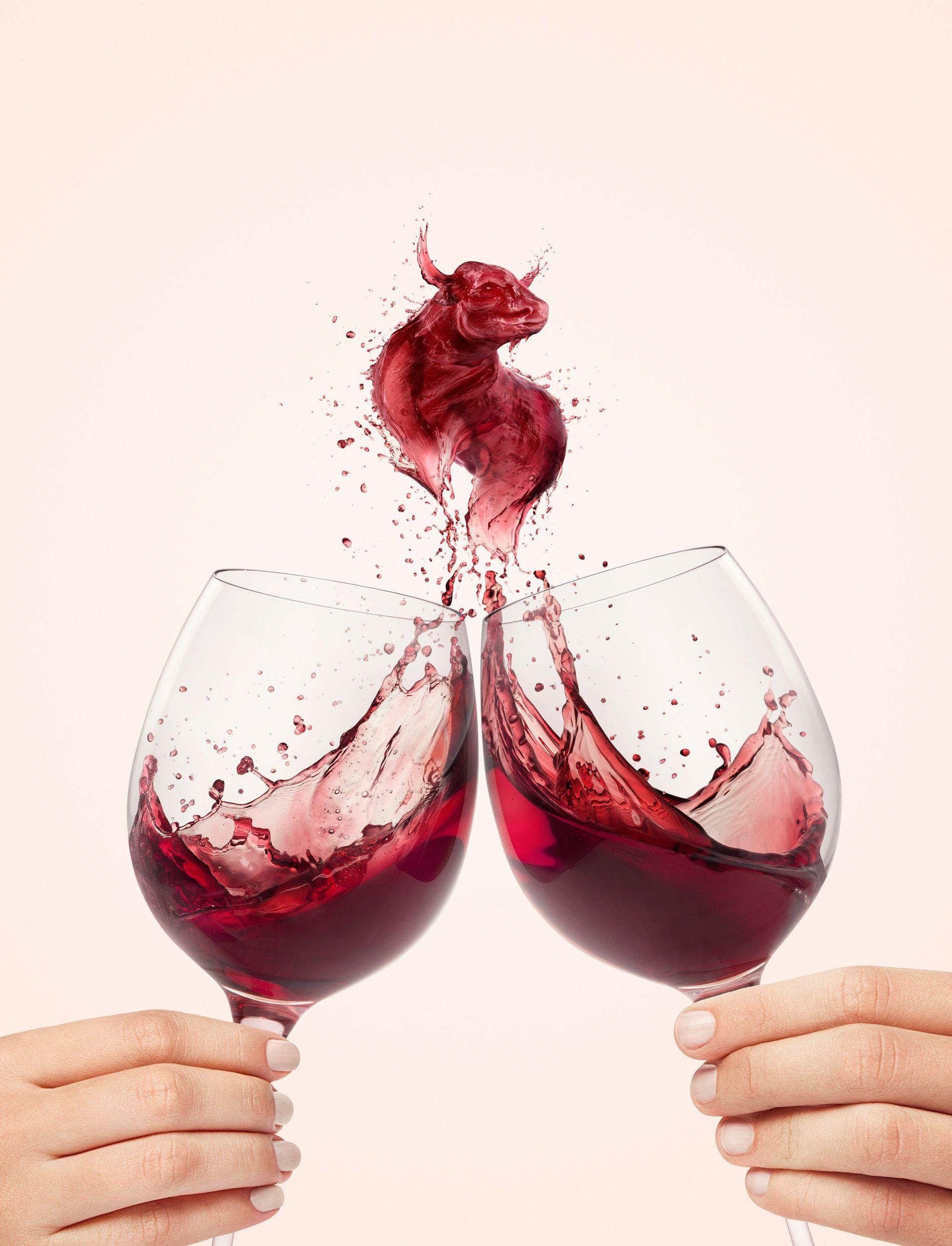 Wine Bull Arte De Vino Disenos De Unas Publicidad