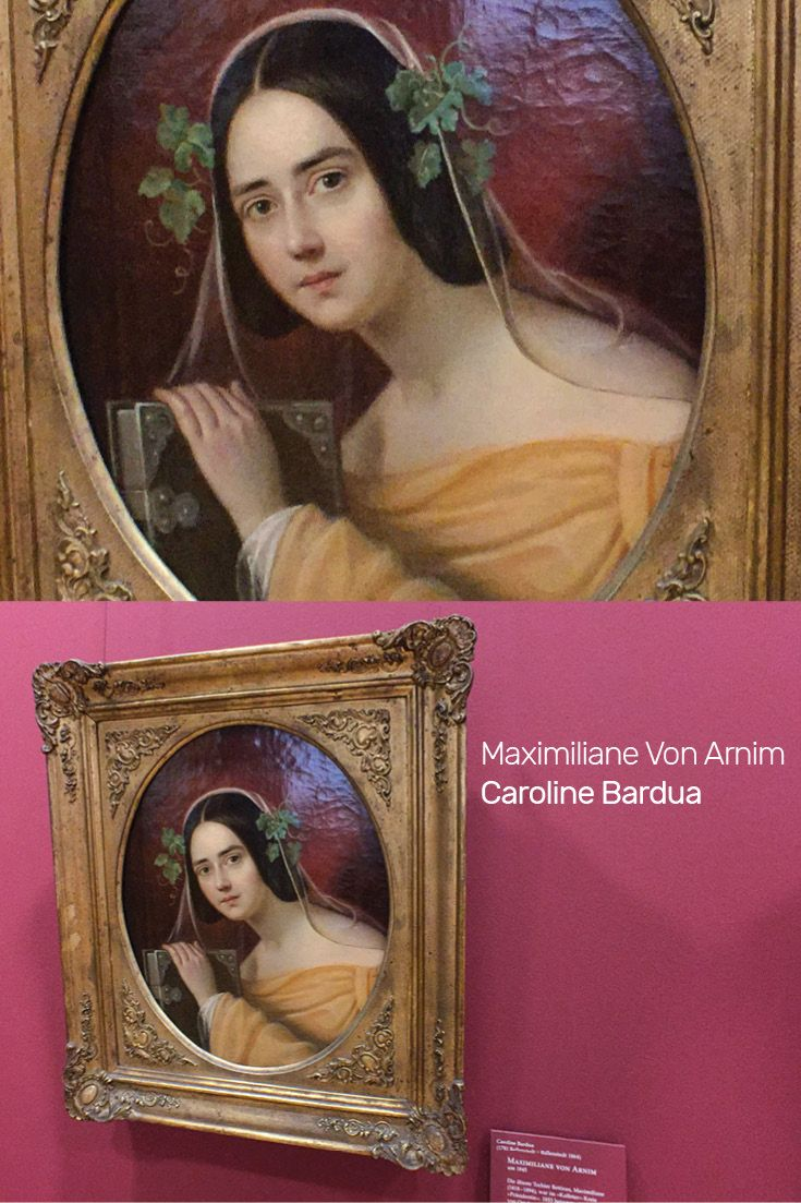 Portrait painting of Maximiliane Von Arnim by German Painter Caroline Bardua at the Frankfurt Goethe Museum