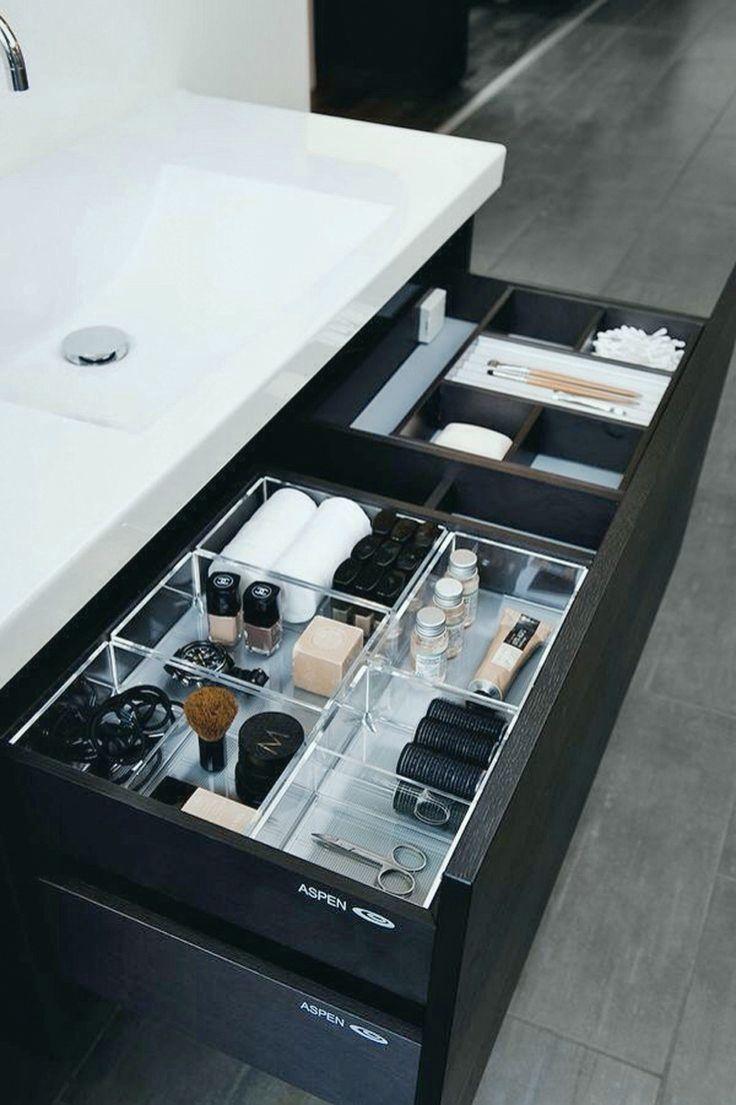Einfache Moglichkeiten Und Unglaublich Schick Um Ihr Make Up Zu Organisieren Badezimmer Diy Make Up Schublade Organisation Bad Inspiration