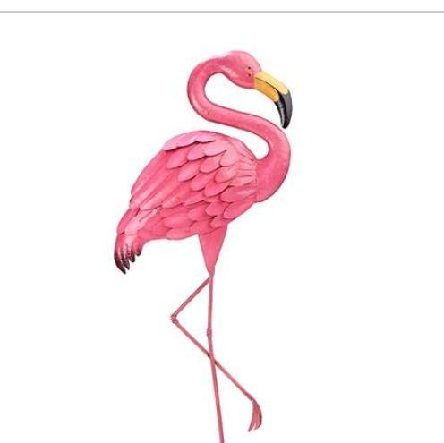 Flamingo garden ornament from Kmart Australia Flamingo Party