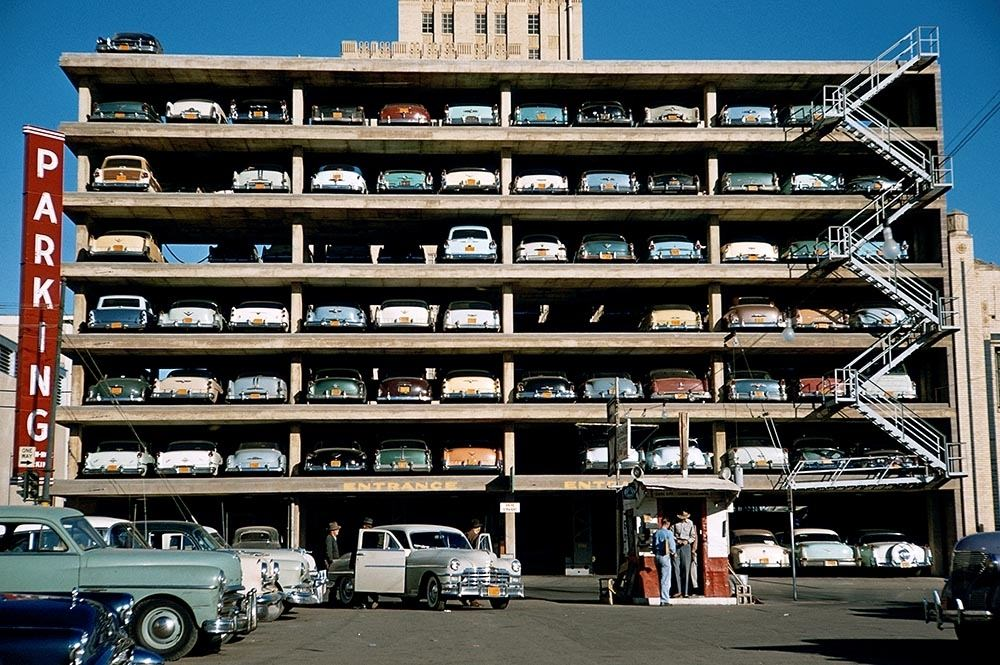 History New York City Parking Garage In 1955 In 2020