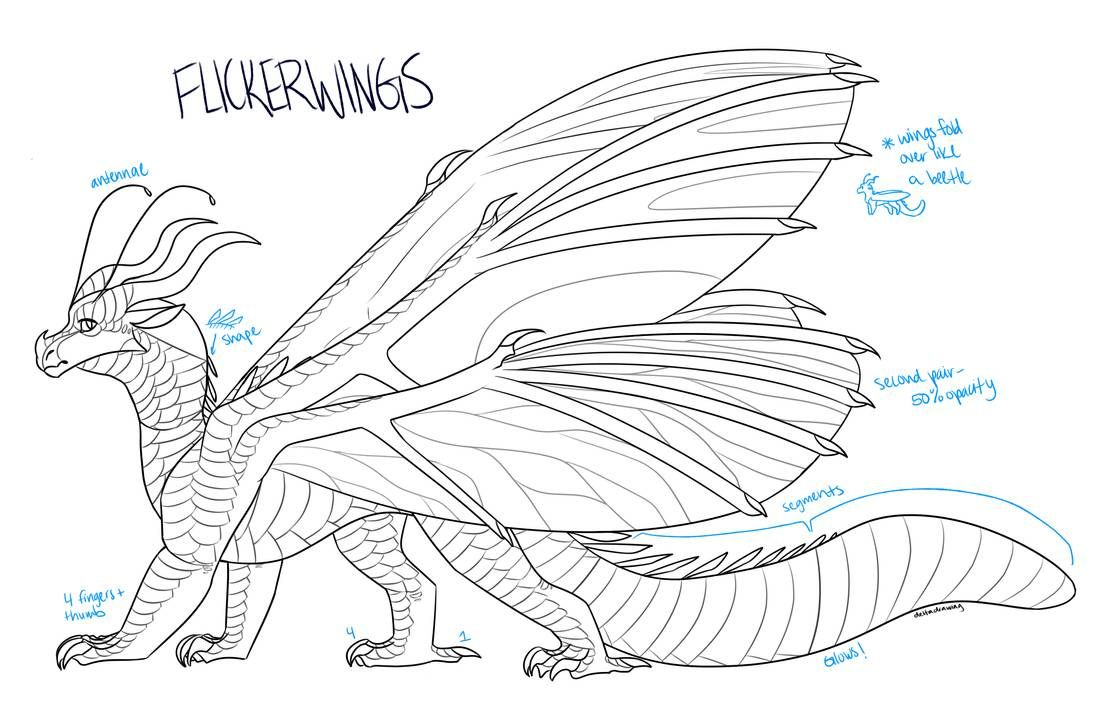 Wings Of Fire Silkwing Coloring Pages Ferrisquinlanjamal